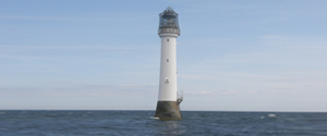Bellrock Lighthouse off the coast of Arbroath