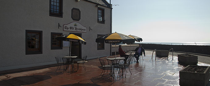 A view of the outside area at the old brew house Arbroath